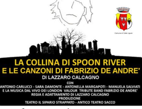 """Doppio appuntamento con """"La Collina di Spoon River e le Canzoni di Fabrizio De Andrè""""!"""